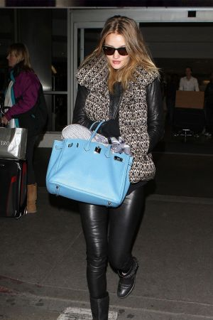 Rosie Huntington-Whiteley at airport in LA