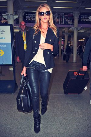 Rosie Huntington-Whiteley at Kings Cross in London