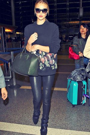 Rosie Huntington Whiteley at LAX Airport