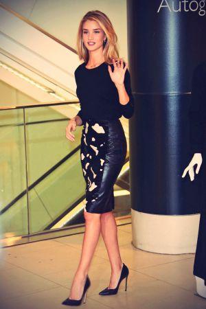 Rosie Huntington-Whiteley attends Marks & Spencer lingerie launch