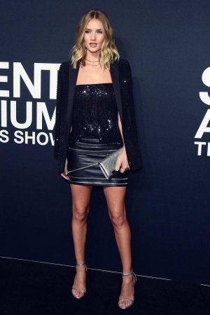 Rosie Huntington-Whiteley attends Saint Laurent Fashion Show