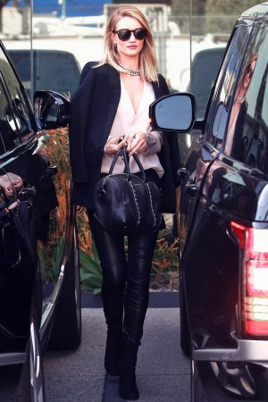 Rosie Huntington Whiteley leaves her Office
