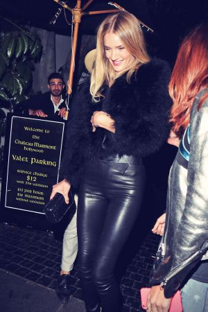Rosie Huntington-Whiteley leaving Chateau Marmont