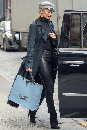 Rosie Huntington-Whiteley leaving her hotel