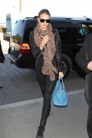 Rosie Huntington-Whiteley leaving LAX