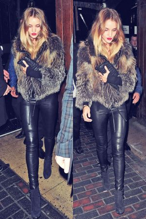 Rosie Huntington-Whiteley leaving the Box Club