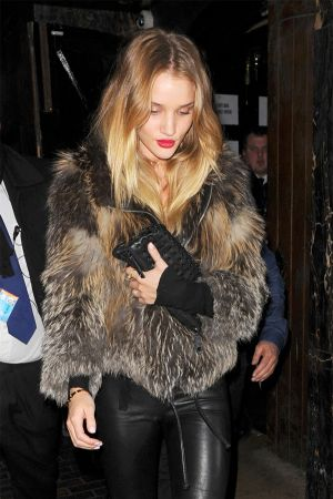 Rosie Huntington-Whiteley Leaving The Box nightclub together in London