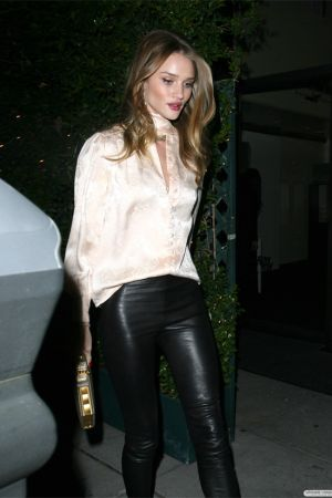 Rosie Huntington-Whiteley leaving the Christian Louboutin party