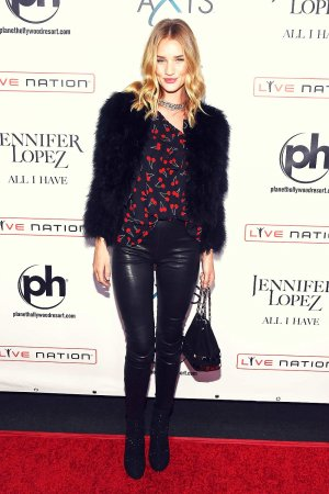 Rosie Huntington-Whiteley opening night of Jennifer Lopez's residency