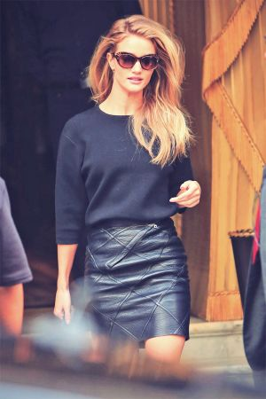 Rosie Huntington-Whiteley out and about during Paris Fashion Week