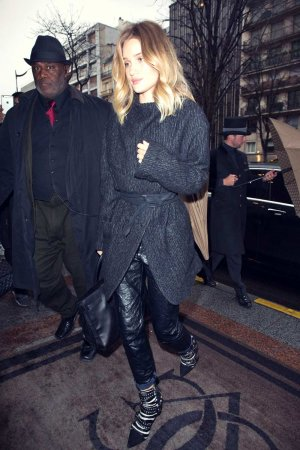 Rosie Huntington Whiteley out in Paris