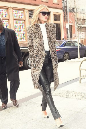 Rosie Huntington-Whiteley out in SoHo