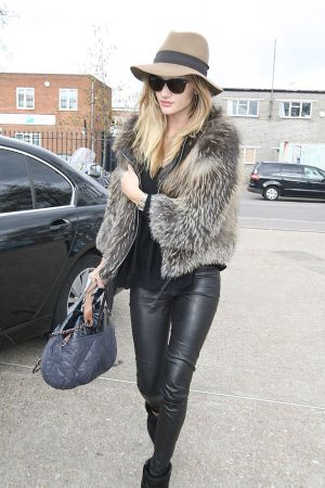 Rosie Huntington-Whiteley visits a photography studio in London