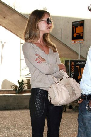 Rosie Huntington-Whiteley was spotted arriving at LAX Airport in LA