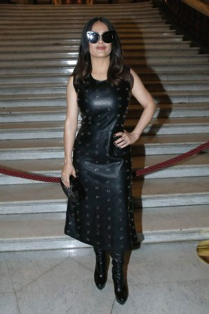 Salma Hayek attends Stella McCartney Show