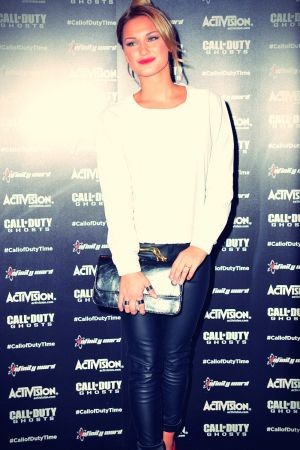 Sam Faiers attends Call of Duty Ghosts launch event