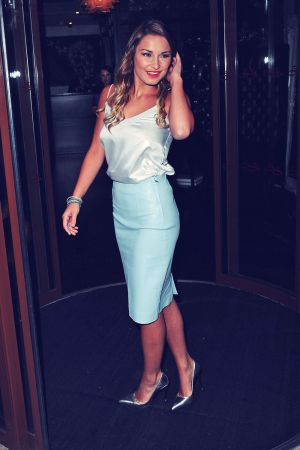 Sam Faiers attends Launch party for The LBD Plan