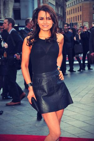 Samantha Barks attends Iron Man UK premiere