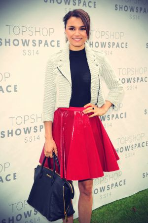 Samantha Barks attends Topshop Unique Autumn/Winter 2013/14