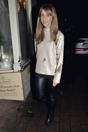 Samia Longchambon arriving at the 1st Birthday Party
