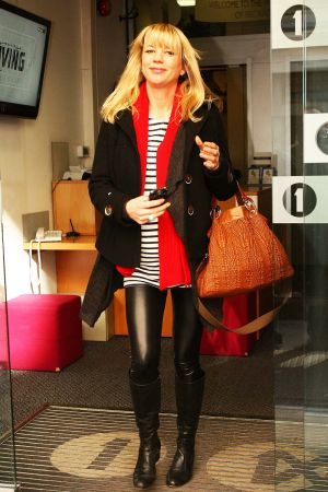 Sara Cox at BBC Radio 1 studios