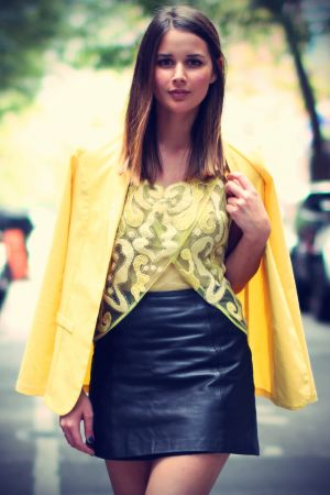Sara Donaldson leather skirt