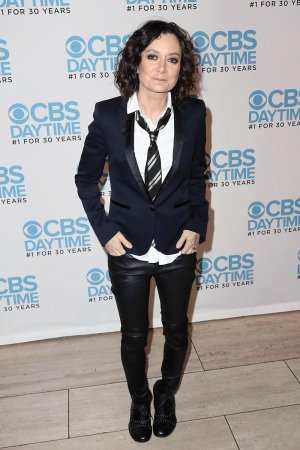 Sara Gilbert attends the panel for The Talk presented by CBS Daytime