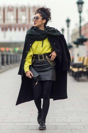 Sara-Joleen Kaveh Moghaddam at Mercedes-Benz Fashion Week Russia