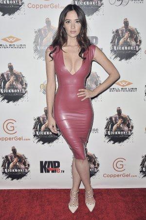 Sara Malakul Lane attends Kickboxer Retaliation Premiere