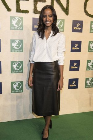 Sara Nuru attends the Tchibo 'Ready for the Green Carpet' Fashion Show