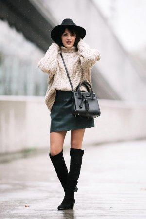 Sarah Benziane street fashion in Paris
