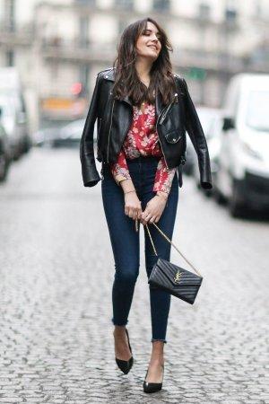 Sarah Benziane street style in Paris