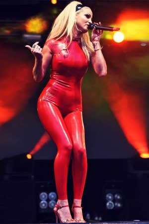 Sarah Harding performs at The Big Weekend Manchester Pride