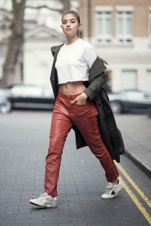Sarah Harris street style in London