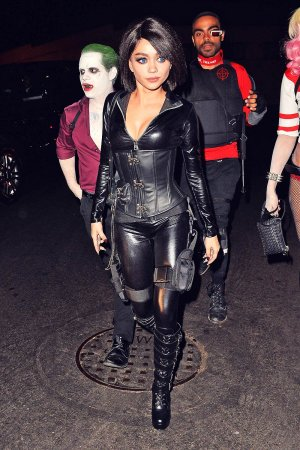 Sarah Hyland attends Just Jared Halloween party