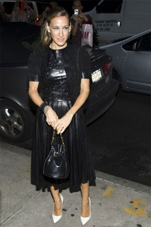 Sarah Jessica Parker at  Fashion's Night Out at Manolo Blahnik Store in  NYC