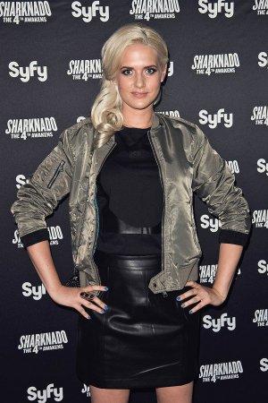 Sarah Knappik attends the Sharknado The 4th Awakens Premiere