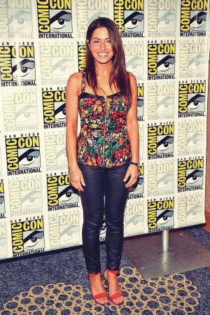 Sarah Shahi attends 2013 Comic-Con in San Diego