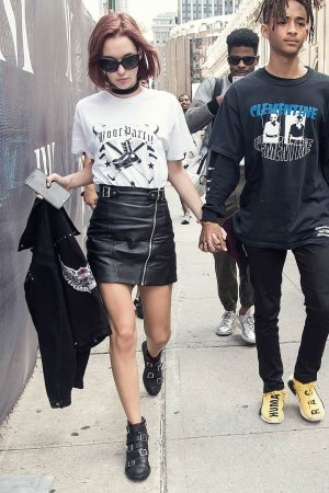 Sarah Snyder arrives at Hood By Air fashion show