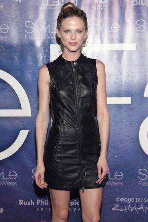 Scarlett Burke attends Malan Breton's 3D Cinematic Runway Show