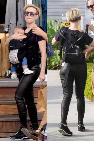 scarlett johansson leather style trends leather celebrities