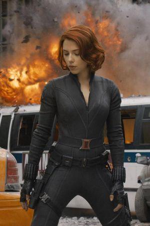 Scarlett Johansson The Avengers promotional pics
