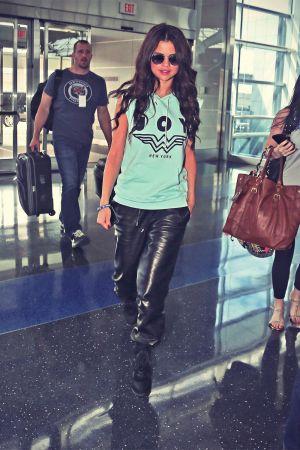 Selena Gomez at JFK airport in New York