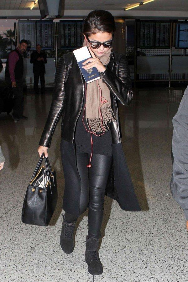 Selena Gomez At Lax Leather Celebrities