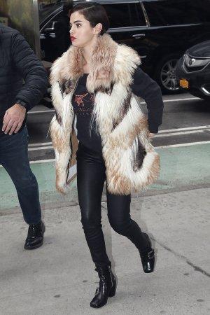 Selena Gomez on the way to a recording studio