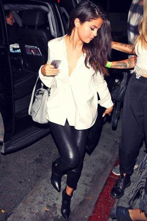 Selena Gomez seen leaving The Nice Guy restaurant