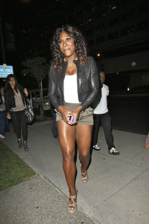 Serena Williams arriving at BOA Steakhouse West Hollywood July