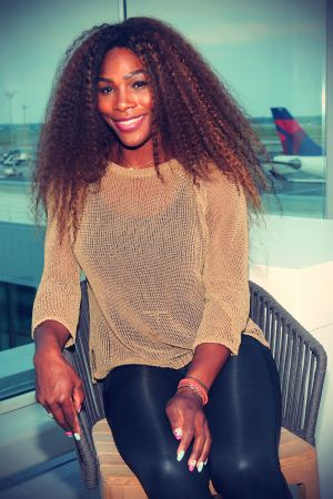 Serena Williams attends Delta Air Lines Wimbledon