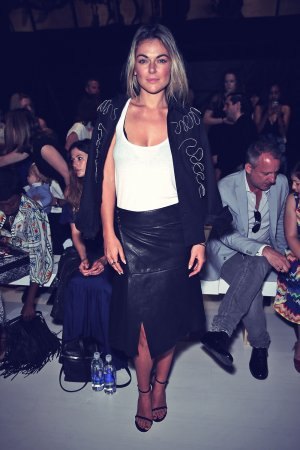 Serinda Swan attends Francesca Libertone Fashion Show