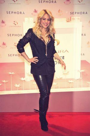 Shakira arrives to her S by Shakira perfume launch